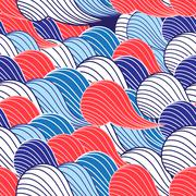 Abstract fantasy pattern - stock illustration