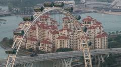 View to the Singapore Flyer Ferris wheel in Singapore, Singapore. - stock footage