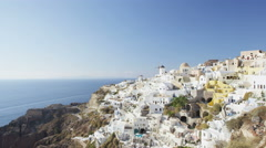Beautiful View Of Village Oia Santorini Aegean Sea - Famous Greek island village Stock Footage