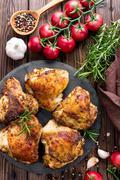 chicken thighs - stock photo