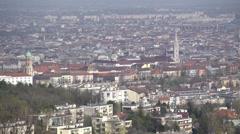 Budapest cityview, pan clip Stock Footage