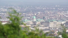 Budapest, Buda castle in the distance Stock Footage