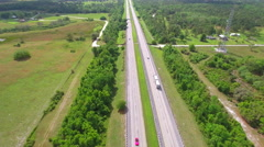 Cars driving on the Florida Turnpike Stock Footage
