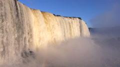 Iguazu Falls, on the Border of Argentina and Brazil Stock Footage