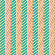 Vintage turquiose seamless pattern - stock illustration