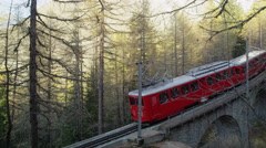Tram Train French Alps Chamonix, France 5K HD Stock Video Footage Stock Footage
