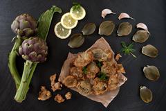 Fried Artichokes Stock Photos