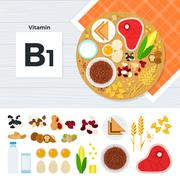 Products with vitamin B1 - stock illustration