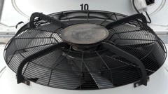 Air Extractor Fan. Close Up. Stock Footage