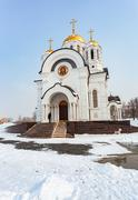 Church of the Martyr St. George in the city of Samara, Russia - stock photo
