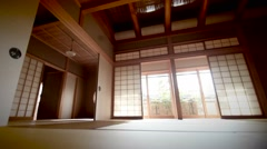 Asian interior home. Stock Footage