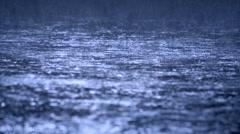 Hard rain falling. Story night Stock Footage