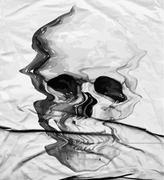 Skull print/skull illustration/evil skull/concert posters/skull canvas print/ Stock Illustration