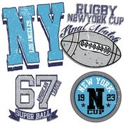 College graphics for t-shirt new york rugby Stock Illustration