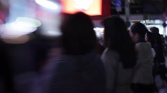 Shibuya people walking in city streetwalk. Stock Footage