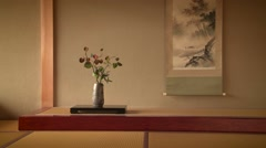 Traditional Japanese decor. Stock Footage