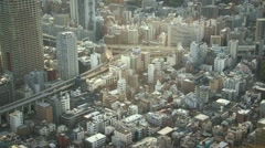 God eye view of people walking. Above angle metropolitan city life. Stock Footage