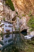 Blagaj dervish house - Bosnia and Herzegovina - stock photo