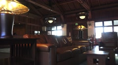 Asilomar reception hall Stock Footage
