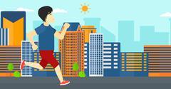 Stock Illustration of Sportive man jogging