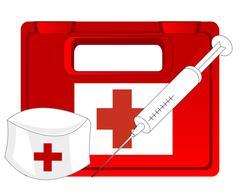 Box with medicine Stock Illustration