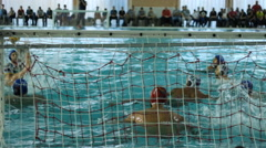 Water polo match , goal  Stock Footage