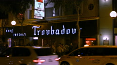 Troubadour Guns n Roses Show Limo Stock Footage