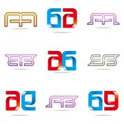 Logo all sales blue abstract symbol vector - stock illustration