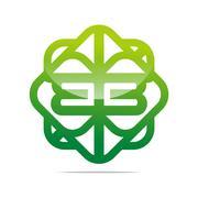 Abstract logo lettermark b Combination icon vector Stock Illustration