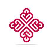 Abstract Logo Heart Love Design Vector Business Stock Illustration