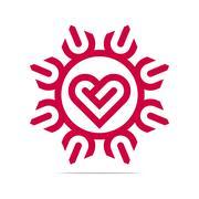 Stock Illustration of Abstract Logo Heart Love Design Vector Business