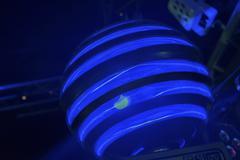 Moving disco light ball - stock photo