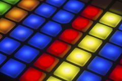Array of light buttons Stock Photos