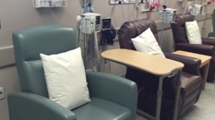 Outpatient wing of hospital - Chemotherapy Chairs Stock Footage