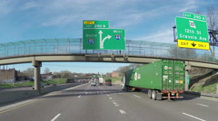 South and West signs on Interstate 55 Stock Footage