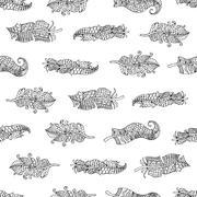 Feathers Seamless Pattern. Stock Illustration