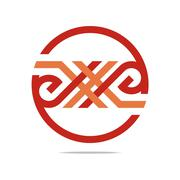 Logo Abstract Letter N Combination Design Element Symbol Icon Stock Illustration