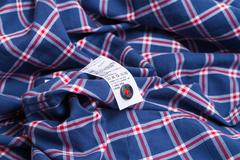 Cloth label advice for your laundry - stock photo
