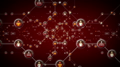 People Networks Red Stock Footage