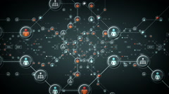 People Networks Silver Stock Footage