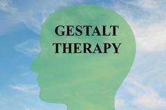 Gestalt Therapy brain concept Stock Illustration