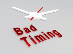 Bad Timing concept - stock illustration