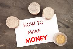 How to make money inspirational quote Stock Photos