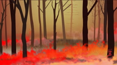 Burn forest fire ,fire flame Stock Footage