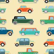 Wallpaper of set vintage cars Stock Illustration