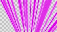 VJ Loop Neon bars on fast Beat 128 ppm outlined with alpha channel Stock Footage