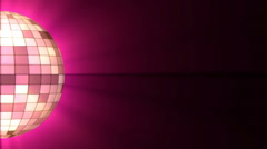Disco Ball. Halb disco ball violet color and shine. Looping Stock Footage
