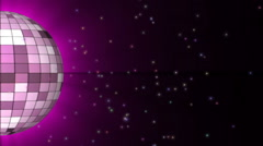 Disco Ball. Halb disco ball with space particle. Looping Stock Footage