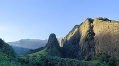 4K UHD Hawaii, Maui, Iao Needle, jungle mountain range Stock Footage