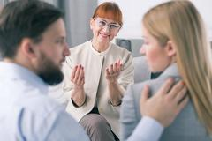 Good effects of marriage therapy - stock photo